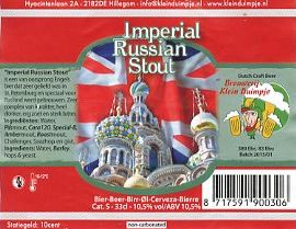 Imperial Russioan Stout by Klein Duimpje (brewery)