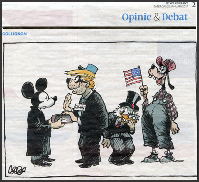 Cartoon by Collignon, Volkskrant 21Jan2017